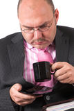 Too much coffee perphaps? Stock Images