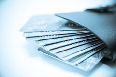 Too Much Credit Card In Wallet Stock Photos