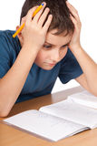 Too much homework Stock Photography