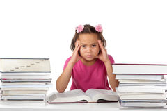 Too much homework Stock Photo