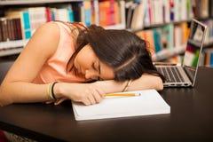 Too much homework Stock Photo