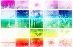 Too Much Media. News and Media Overload Tech Abstract Background Stock Photography