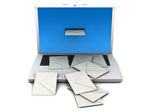 Too much post. Abstract view of spam mailing. Front view Royalty Free Stock Photography