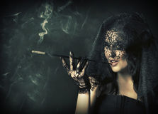 Too much of smoke Royalty Free Stock Photos