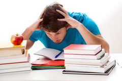 Too much studying Stock Photo