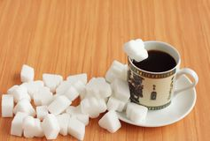 Too much sugar into it Royalty Free Stock Images