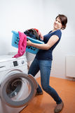 Too much to launder. In domestic laundry Stock Photography