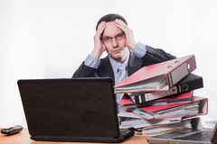 Too much work headache stock images