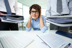 Too much work Stock Photo