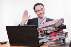 Too much work resign /quit Royalty Free Stock Photo