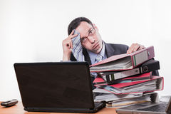 Too much work sweating Stock Photo