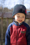 Too shy. Picture of a cute baby boy Stock Photography
