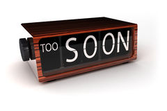 Too Soon! Stock Photography