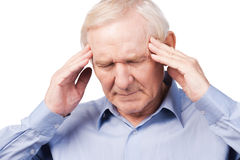Too stressful day. Royalty Free Stock Photo