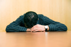 Too tired royalty free stock photo