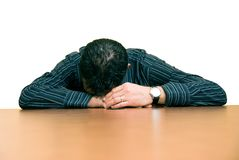 Too tired royalty free stock image