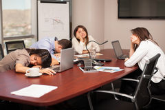 Too tired for work Stock Photography