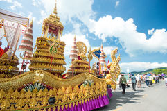 Tood pha pa. KO SAMUI - NOVEMBER 8: NGAN DUAN SIB Traditional of buddhist festival; Decorations of the parade on November 8, 2012 in ko samui surat thani royalty free stock photography