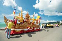 Tood pha pa. KO SAMUI - NOVEMBER 8: NGAN DUAN SIB Traditional of buddhist festival; Decorations of the parade on November 8, 2012 in ko samui surat thani royalty free stock photos