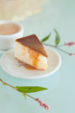 Toofee cheesecake with small americana Royalty Free Stock Photo
