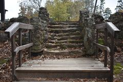 Steps at Daingerfield State Park in Dainger Texas Nov 25 2018. Took a drive to Daingerfield State Park in East Texas just to see the fall color royalty free stock images