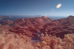 Surreal scene in infrared colors Royalty Free Stock Photos