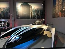 Batman Car at Warner Brothers Studio in LA stock photo
