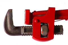 Tool. Plumber tool in white background, detail royalty free stock photography