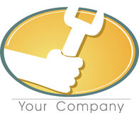 The tool. A logo to your company at work Stock Photography