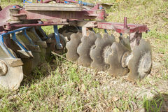 Tool for agriculture: disc harrow Royalty Free Stock Photography