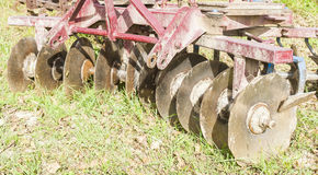 Tool for agriculture: disc harrow Royalty Free Stock Image