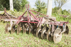 Tool for agriculture: disc harrow Stock Image