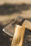 Tool  ax chop  log Royalty Free Stock Photography