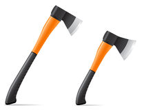 Tool axe with plastic handle vector illustration Stock Photos