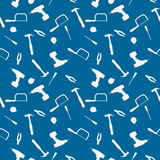 Tool Background. A seamless pattern of a workman's tool set stock illustration