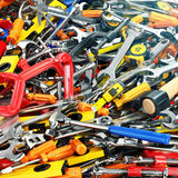 Tool background. Heap of different tools. Workshop. Royalty Free Stock Image