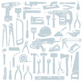 Tool background. Set of construction tools vector Vector Illustration