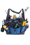 Tool bag. Isolated on white background royalty free stock photo