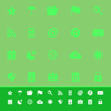 Tool bar color icons on green background. Stock Stock Image