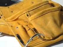 Tool Belt. Suede tool belt worn around the waist Stock Photos