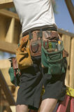 Tool belt of carpenter Stock Images