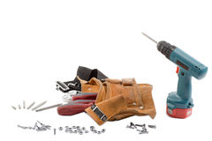 Tool belt and driller Stock Photography