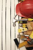 Tool belt and tools stock photo