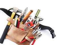 Tool belt with tools Royalty Free Stock Photography