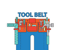 Tool belt ,vector. Tool kit belt set,vector Royalty Free Stock Images