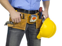 Tool belt. On white background Stock Images