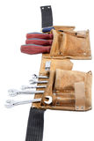 Tool belt with work tools Royalty Free Stock Image