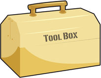 Tool box. Illustration of tool box on white Stock Photos