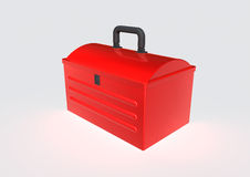 Tool box. 3d image of a tool box over white background Royalty Free Stock Image
