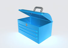 Tool box. 3d image of a tool box over white background Stock Photos
